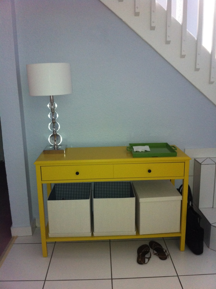 {entry way design} loving the new console table...