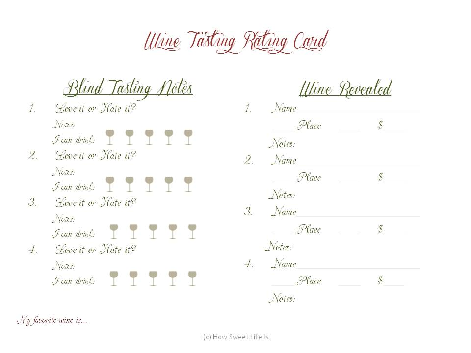 graphic relating to Wine Tasting Sheets Printable named wine tasting printables how lovable existence is
